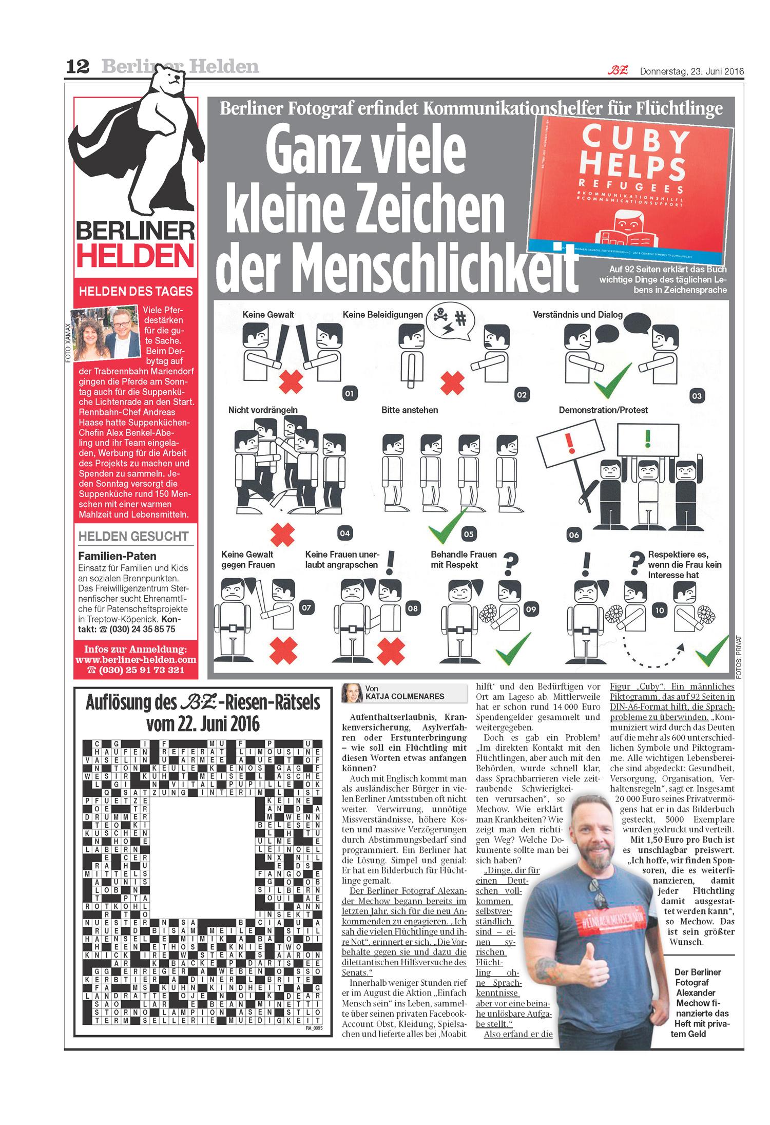 EINFACH MENSCH SEIN in der Presse (Print)