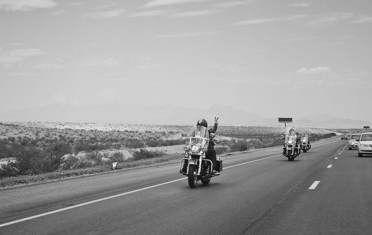 Biker auf einem US Highway