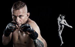 """Actionshoot mit den MMA Kämpfern Marva Kübler und """"Prince"""" Rany Saadeh."""