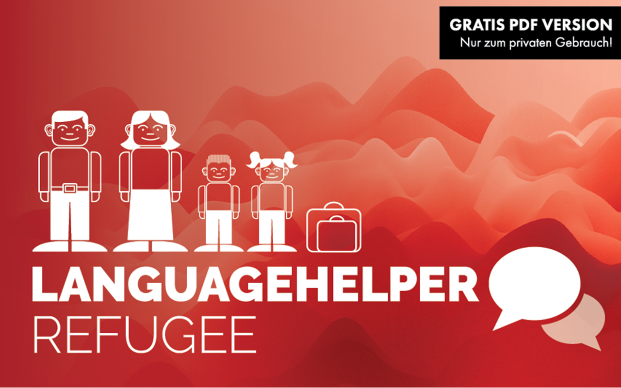 Der LANGUAGEHELPER-REFUGEE hilft sofort Sprach- und Sprechbarrieren zu überbrücken. -communicating through pictogrammes.​